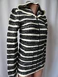 Туника женская недорого теплая с капюшоном, фото 3