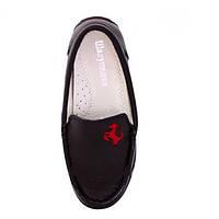 Туфли мокасины для мальчиков из натуральной кожи р.27,28 черные