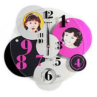 Часы настенные Семейные Кружева разноцветные