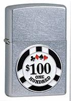 Зажигалка Zippo 24053 Street Chrome (фишки для игры в покер)
