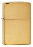 Зажигалка Zippo 168 Brushed Brass Armor, подарок другу