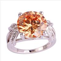 Серебряное кольцо с морганитом 17р