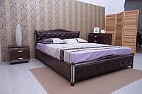 Кровать Полуторная Деревянная  Прованс патина ромб, фото 1