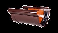 Соединитель желоба Система 90/75 (коричневый)