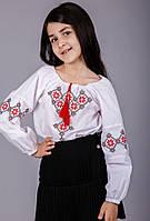 Блуза вышитая детская с геометрическим узором