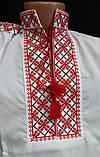 Вышиванка на мальчика с красным орнаментом, фото 2