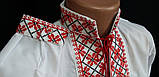 Вышиванка на мальчика с красным орнаментом, фото 3