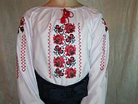 Вышитая блуза для девочки Калина