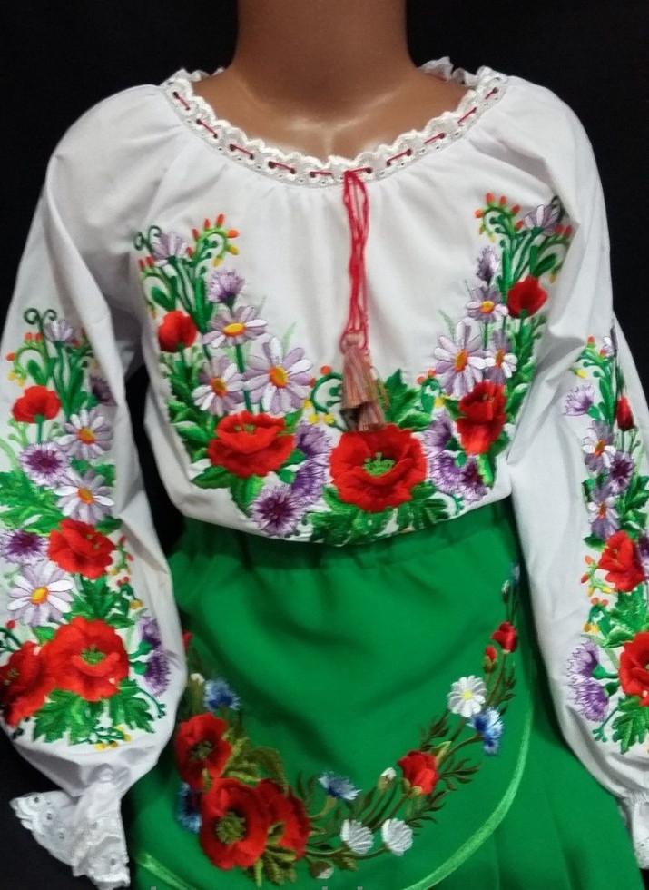 Вышиванка на поплине для девочки Полевая песня
