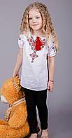 Вышитая детская блуза с геометрическим узором, фото 1