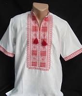Вышитая мужская рубашка на короткий рукав