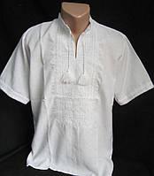 Вышитая мужская сорочка с коротким рукавом