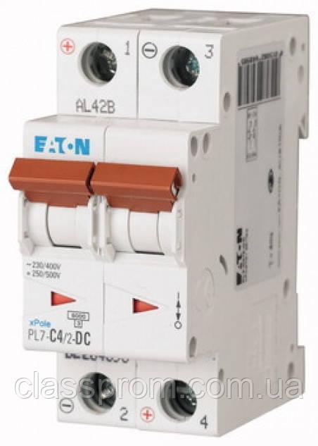 Автоматический выключатель постоянного тока 2-полюс. PL7-C25/2-DC EATON