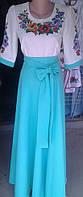 Вышитое длинное платье Мальва