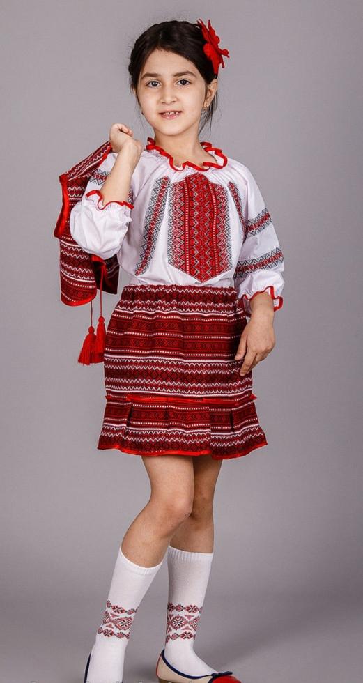 Вышитый костюм тройка для девочки Веснянка