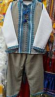 Вышитый льняной костюм тройка для мальчика