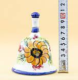 Коллекционный колокольчик, керамика, Англия, ручная роспись, фото 9