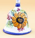 Коллекционный колокольчик, керамика, Англия, ручная роспись, фото 2