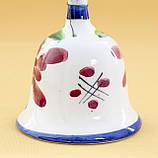 Коллекционный колокольчик, керамика, Англия, ручная роспись, фото 3