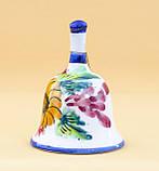 Коллекционный колокольчик, керамика, Англия, ручная роспись, фото 5