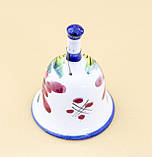 Коллекционный колокольчик, керамика, Англия, ручная роспись, фото 4