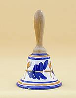 Колекционный  колокольчик, керамика, Англия, ручная роспись, фото 1