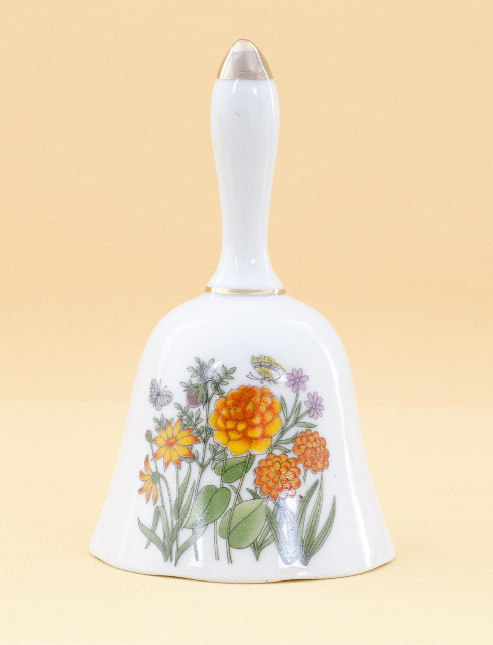 Винтажный коллекционный колокольчик, фарфор, Япония