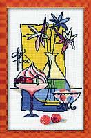 Набор для вышивания крестом «Малиновый десерт» (910), Риолис