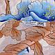 Освежающий женский шарф из хлопка 79 на 87 см  ETERNO (ЭТЕРНО) ES0908-8-4 разноцветный, фото 2