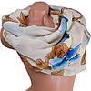 Освежающий женский шарф из хлопка 79 на 87 см  ETERNO (ЭТЕРНО) ES0908-8-4 разноцветный