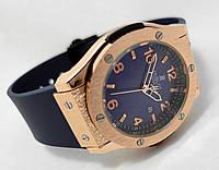 Мужские часы HUBLOT - GENEVE BIG NUMBER, цвет золото, синий циферблат