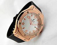 Мужские часы HUBLOT -  BIG NUMBER, цвет золото, белый циферблат, GENEVE