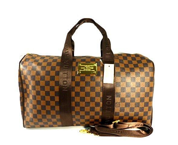 Сумка дорожная кожа PU коричневая Louis Vuitton 366