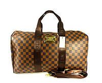Сумка дорожная кожа PU коричневая Louis Vuitton 366, фото 1