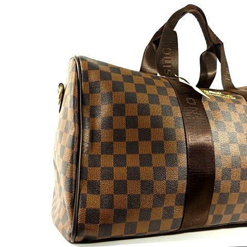 3187d80fe362 Сумка дорожная кожа PU коричневая Louis Vuitton 366- купить по ...