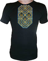 #футболка чоловіча з патріотичною вишивкою (Арт. 00461)
