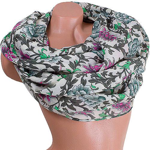 Элегантный женский шарф из хлопка 179 на 88 см  ETERNO (ЭТЕРНО) ES0908-10-2 разноцветный
