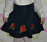 Детская юбка с вышивкой Маки