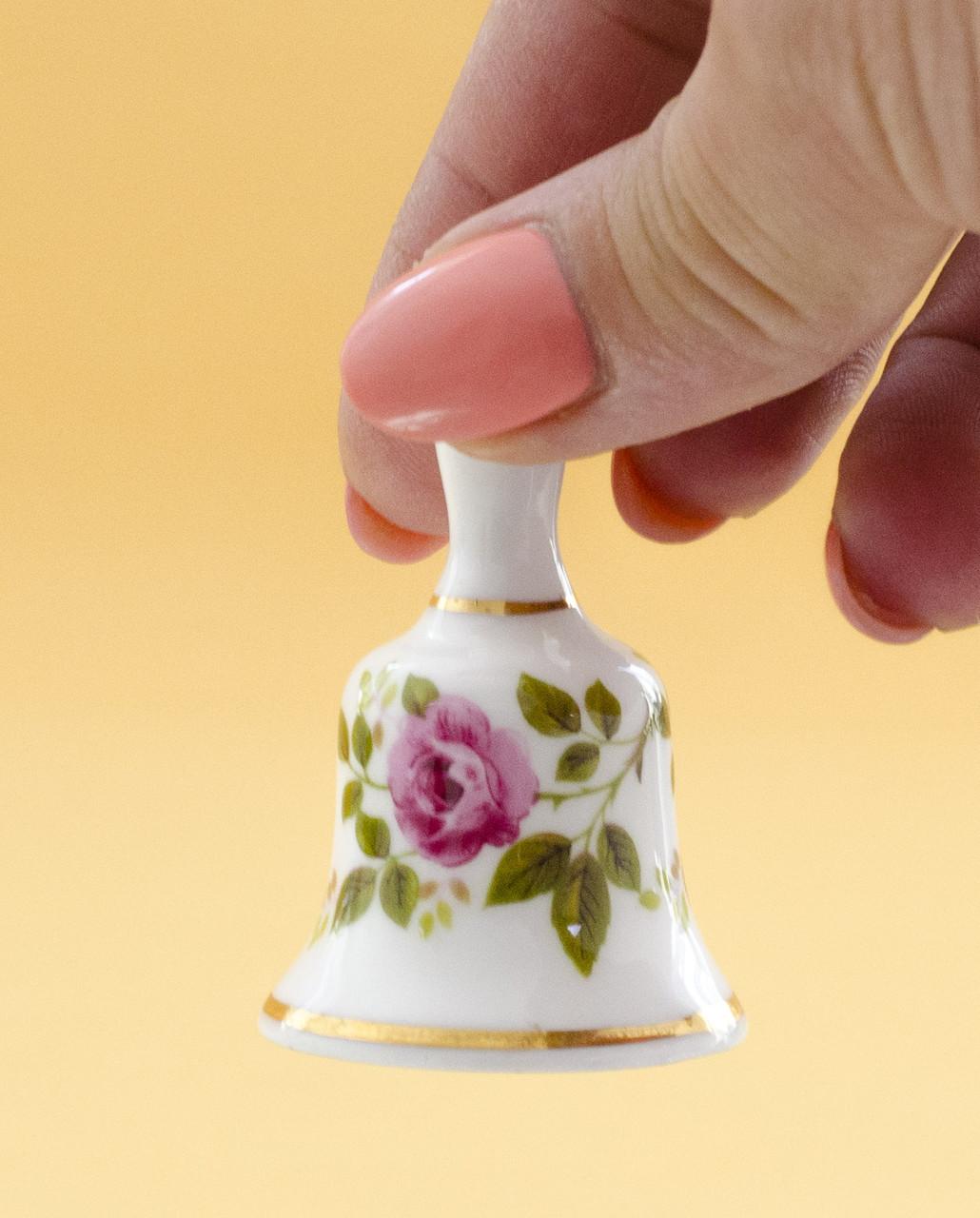 Коллекционный колокольчик, костяной фарфор, Англия, миниатюра
