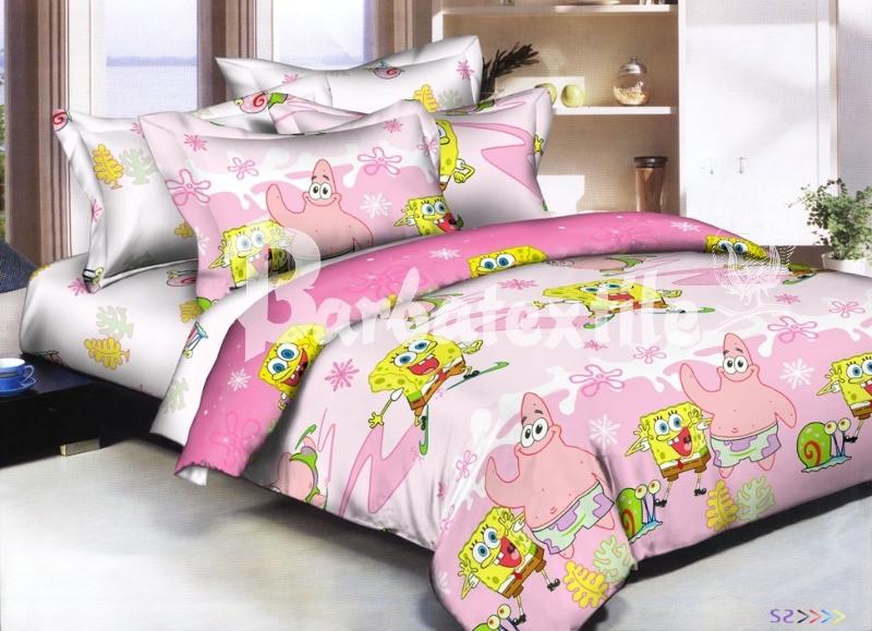 Детское постельное белье Губка Боб (Ранфорс)
