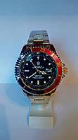 Мужские часы Rolex Submariner Date (мет/чер/крас)