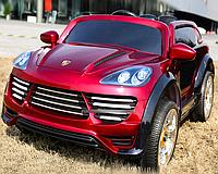 Лицензионный электромобиль Porsche Cayenne M 2735 EBLRS-3 колеса EVA+кож.сиденье***