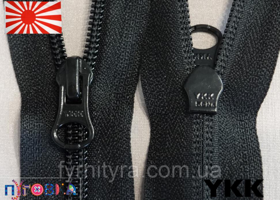 Блискавка спіраль YKK 70cm 580 чорна 1бегунок разьемная