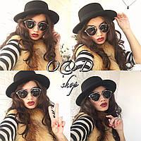 Шляпа фетровая женская классическая канотье  SHc11