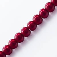 Жемчуг бус стекл, глянц., 4мм, темно-красный(216 шт) БА000000466