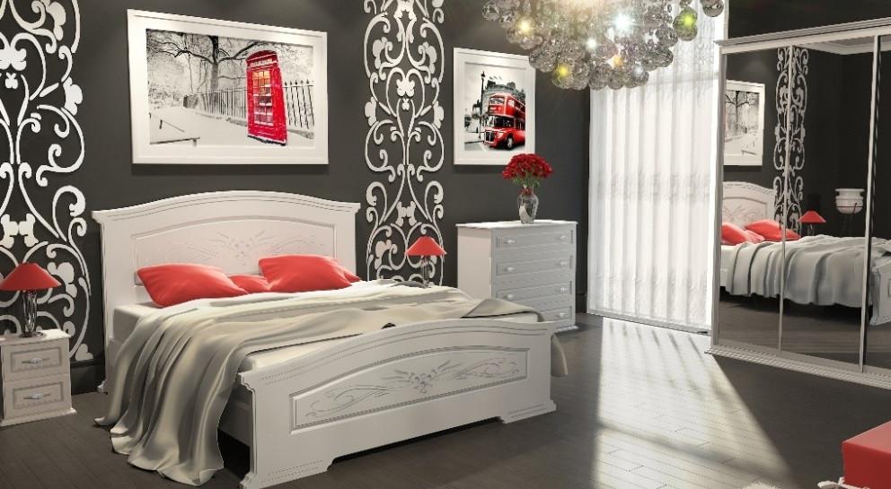 белая мебель для спальни инесса цена 5 425 грн купить в киеве