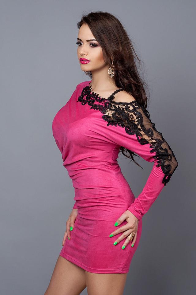 Эффектное платье из замшевого трикотажа с ажуром  продажа 2cfaa726afcb6