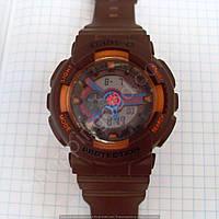 Детские часы Casio BabyG BA-111 5338 (114287) коричневые с оранжевым водонепроницаемые календарь подсветка