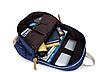 Стильный молодежный рюкзак темно-синий в мелкий горошек, фото 4