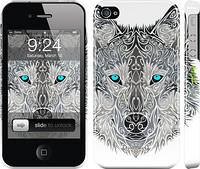 "Чехол на iPhone 4s Узорчатый волк ""3039c-12"""